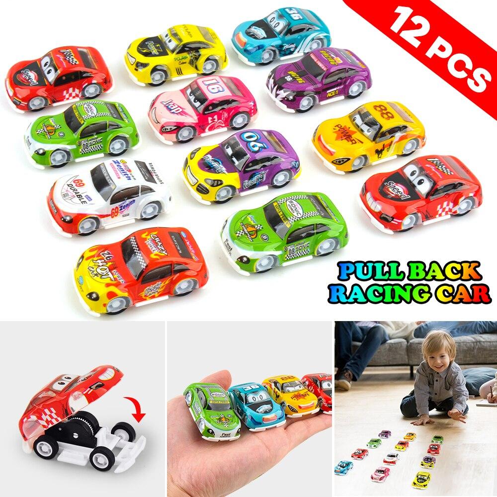 18 Pcs Mini Pull Back Cars Speed Racer Truck Let go Diecast Vehicles Model Toys