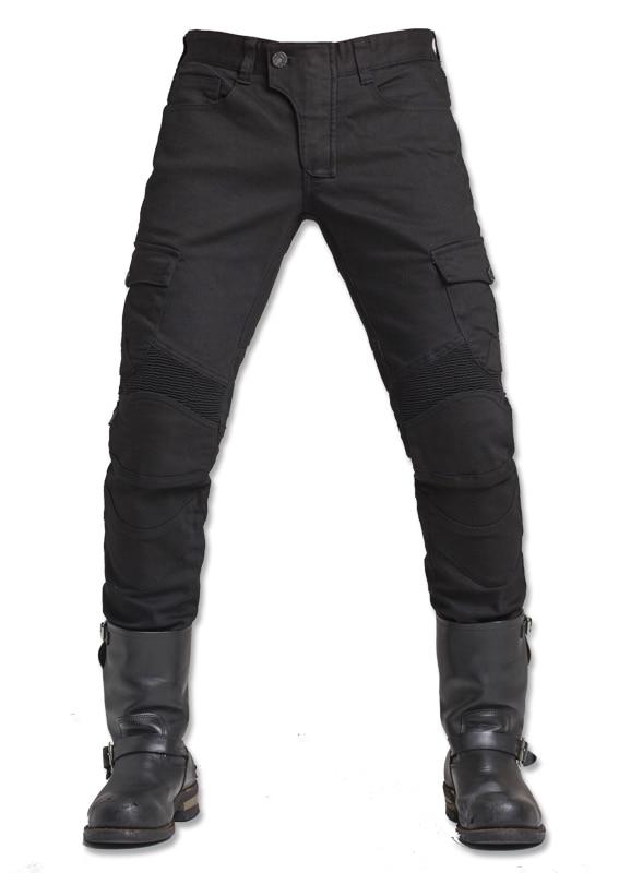 Black Casual Uglybros Motorpool Ubs06 Jeans Motorcycle Protective Pants Men's Moto Pants Outdoor Tactical Pants Racing Pants pro biker mcs 04 motorcycle racing half finger protective gloves red black size m pair