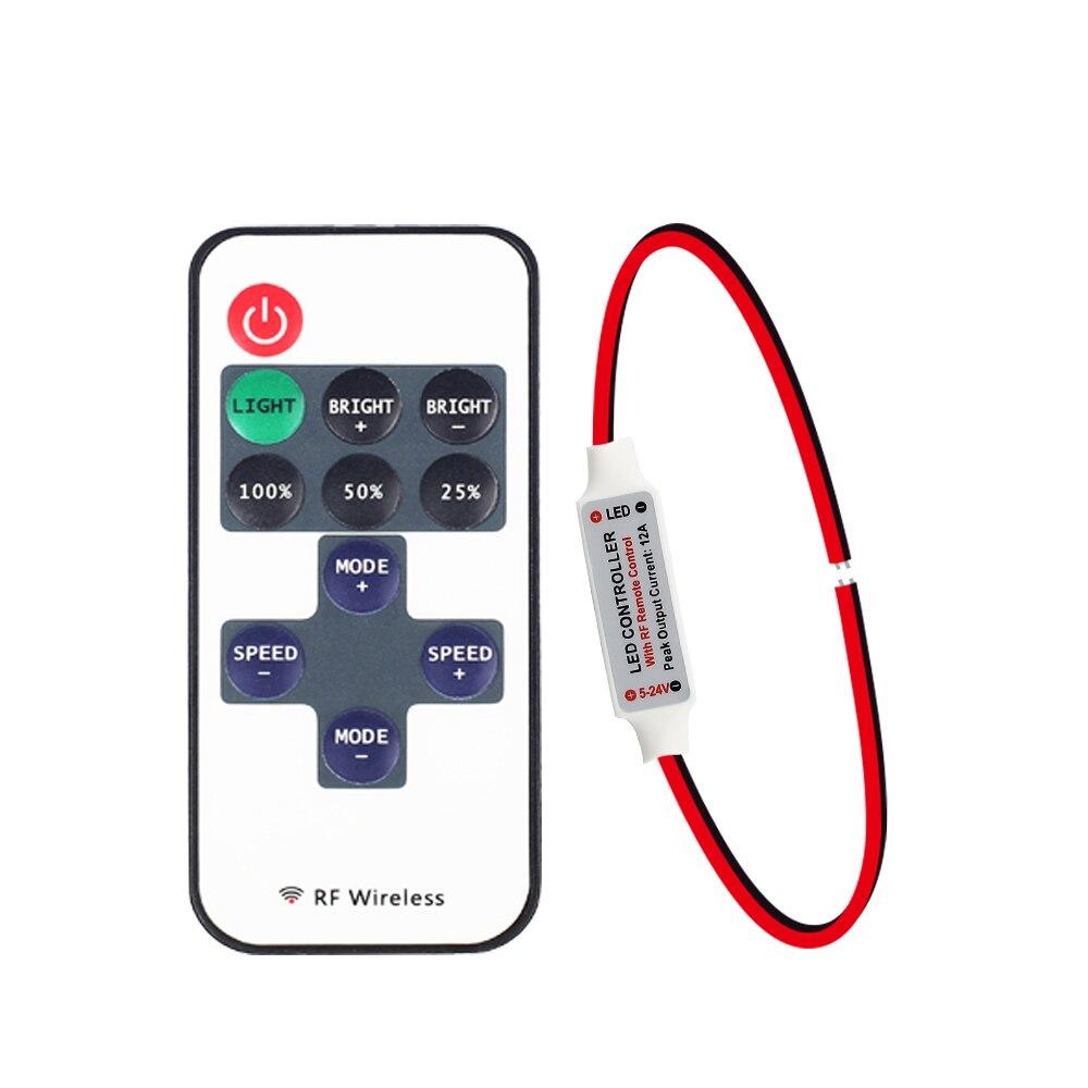 Dimmer 5v 12v 24v Dimmer with Remote strip led 3528 5050 5630 LED modules