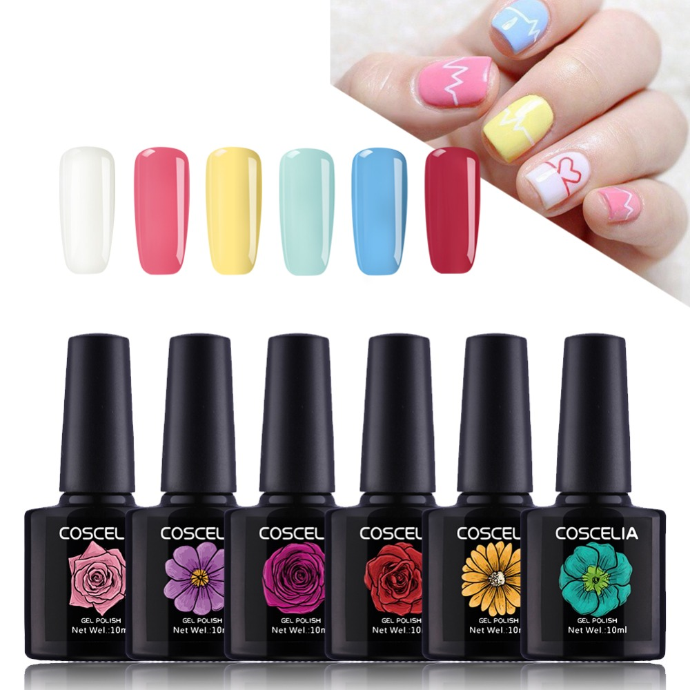 40 kleuren gel polish vernis uv gel nagellak 10ml led gelpolish primer glanzende nagel glitter verkoop geluk gel polish gel voor nagel