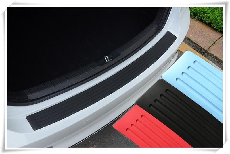 Car styling car strips Car rear bumper protection for Skoda Octavia Yeti Roomster Fabia Volkswagen Touareg Phaeton Accessorie эмблема для авто vw original oem vw skoda skoda fabia octavia roomster