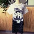 Real Photo Vestidos de Ocio de la Marca de Pato de Dibujos Animados Con Lentejuelas camisa larga de la Manera Encantadora Vestidos Mujer Ropa Aliexpress Barato