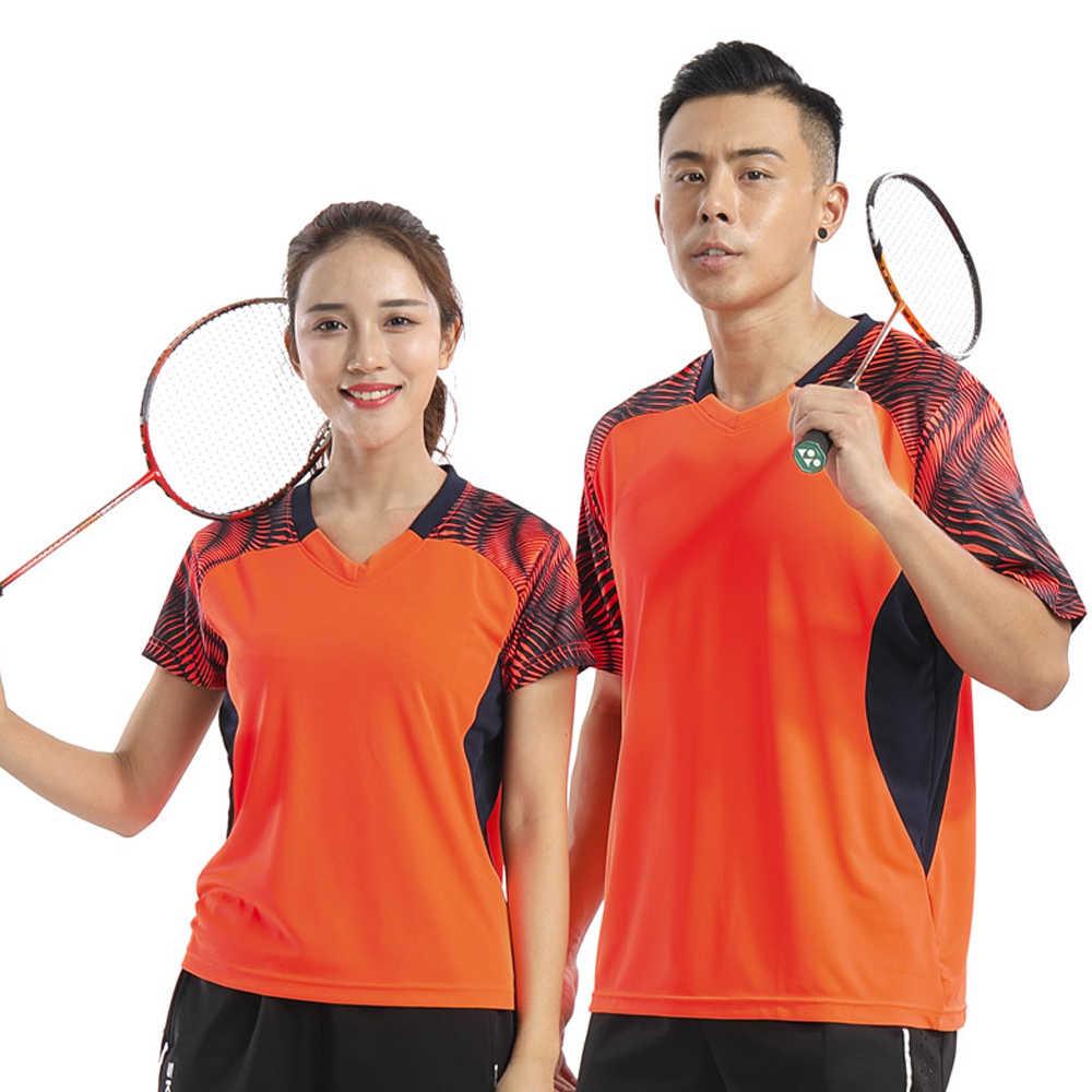 Новый бадминтон одежда Для женщин/Для мужчин, настольный теннис наборы, Quick Dry Спорт Теннис наборы, бадминтон, Одежда наборы 2008