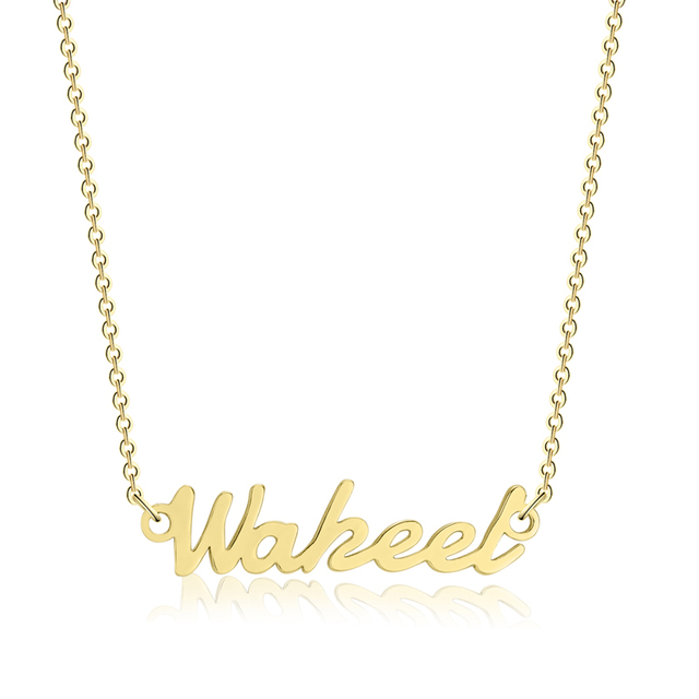 3UMeter Custom Necklace Personalize Choker Necklace Women Copper Pendant Fascina