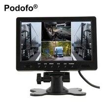 9 Pulgadas TFT LCD Monitor Del Coche 4 Pantalla Dividida Reposacabezas Monitor de vista trasera con Conectores RCA 6 Modo de Pantalla y Control Remoto Control