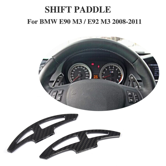 DRY Carbon Steering Wheel Shifters for BMW 3 Series E90 E92 M3 Sedan 4D Coupe 2D 08-11