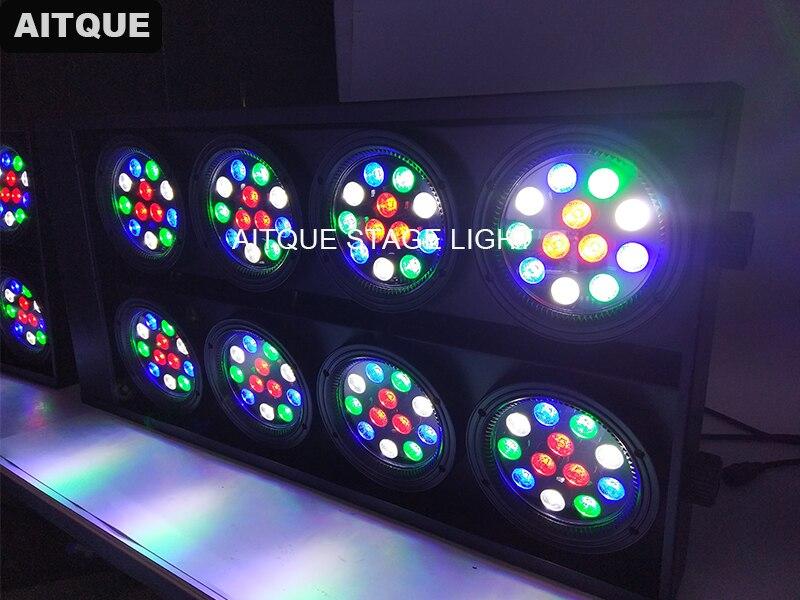 4pcs Theatre lighting studio 8 led blinder light 8eye 96pcs rgbw led audience light DMX  512