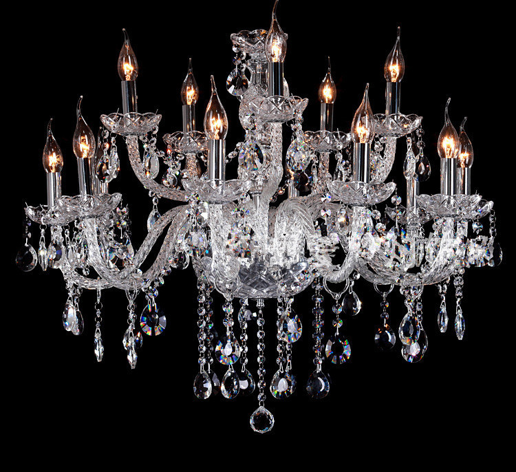 Φ_ΦModerno gran lámpara de lujo antiguo Bohemia lámparas de cristal ...
