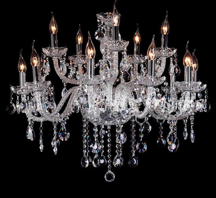 Modern Large Luxury Chandelier Antique Bohemia Crystal