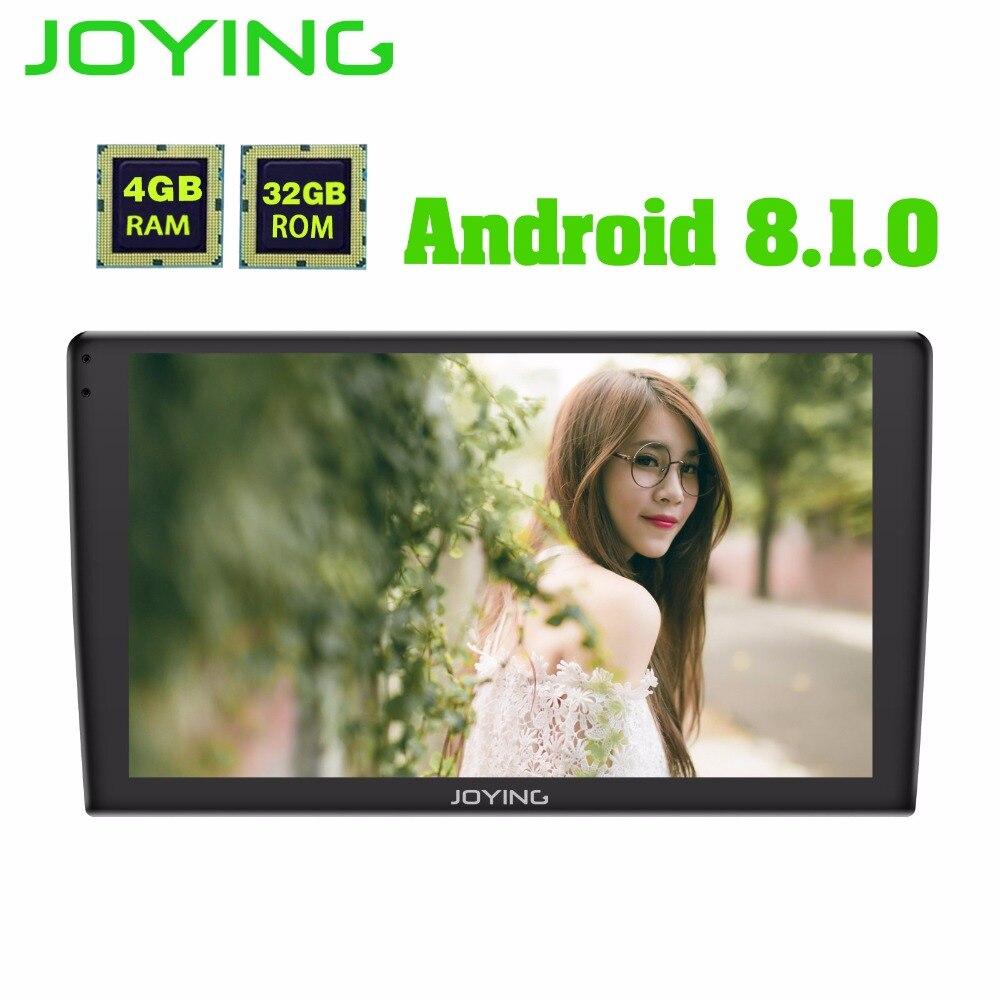 Mais recente Android 8.1 um din 4 GB de Ram GB Rom 9 32 polegada Jogador Rádio Do Carro GPS HD tela sensível ao toque unidade de cabeça universal fast boot com DSP
