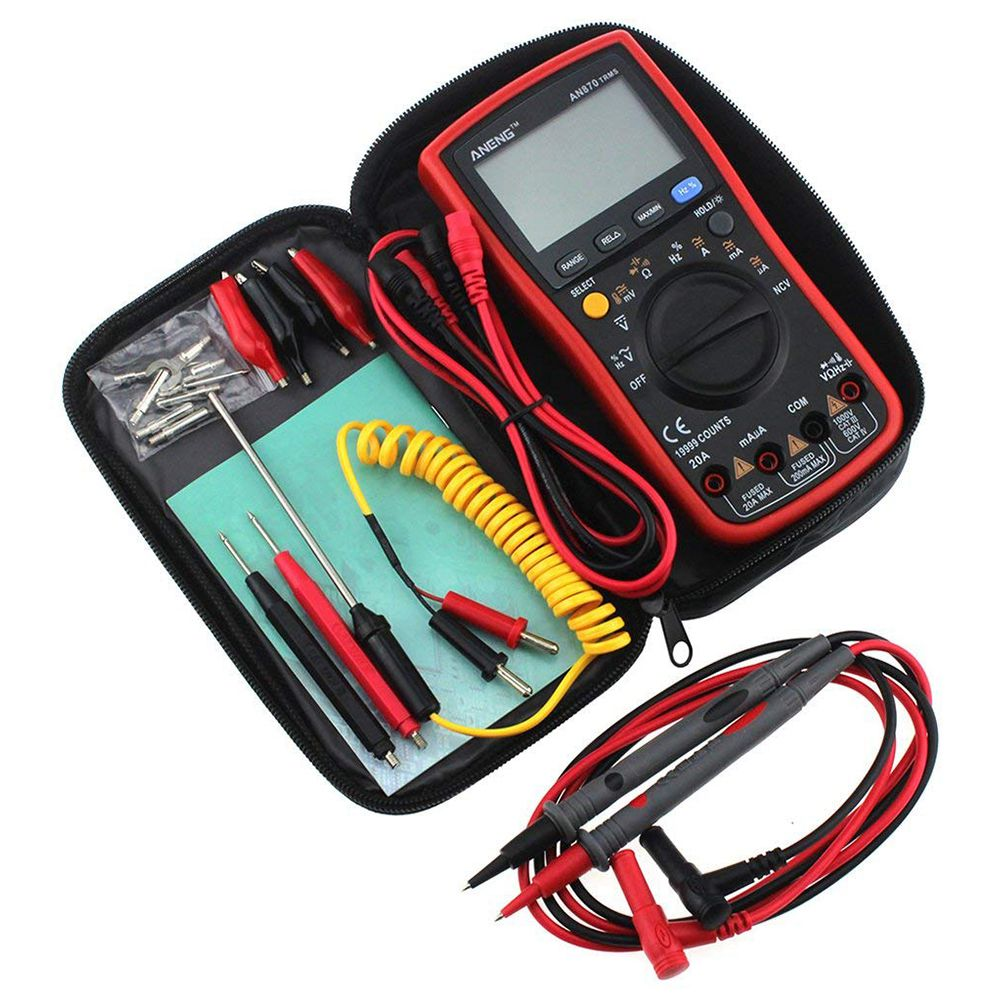 ANENG 19999 Counts Digital Multimeter AN870 True-RMS Temperature AC/DC Voltage Ammeter Current Meter LCD Backlight Multimeters aneng current multi meter an8207l digital multimeter 2000 counts handheld multimeter lcd display ac dc current testing