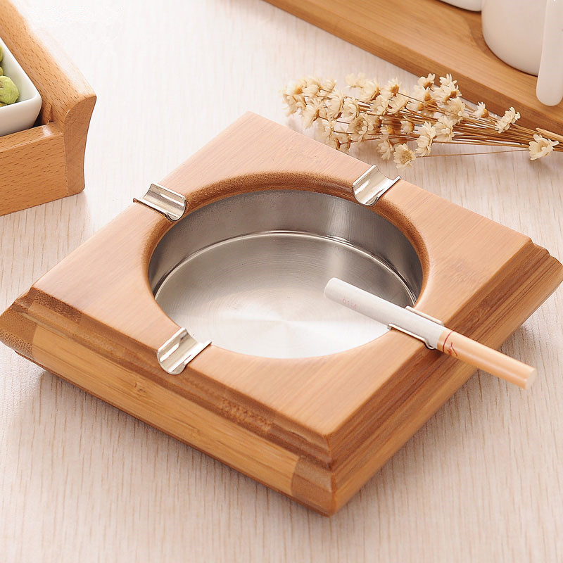 Bamboo Ashtray Creative