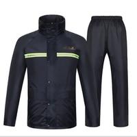 Raincoat Rain Pants Heavy Rain Gear Waterproof Motorcycle Bicycle Rain Jacket Suit Poncho Table Size Large