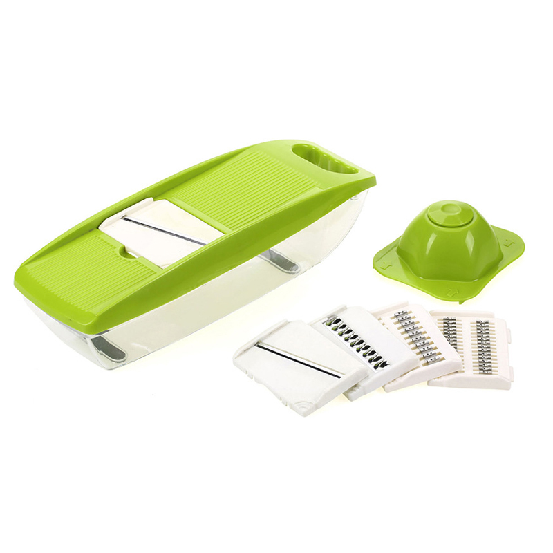 Vegetable Cutter With Steel Blade Chopper Round Mandoline Slicer Potato Peeler Carrot Cheese Grater Kitchen Accessories Tool