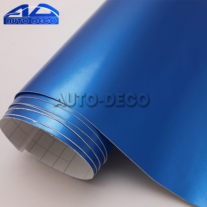 Electric Blue Matte Vinyl Film Sticker for Car DIY Color Change Wrapping Sheet With Air Bubble Free size:1.52*30m/roll quality guarantee silver chrome vinyl film for car wrapping sticker with air bubble free 20m roll