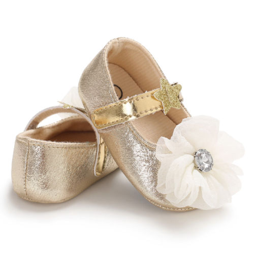 Adorable Newborn Baby Girls Princess Bowknot Shoes Wedding Party First Walker Lace Shoes 2018 Hot NEW