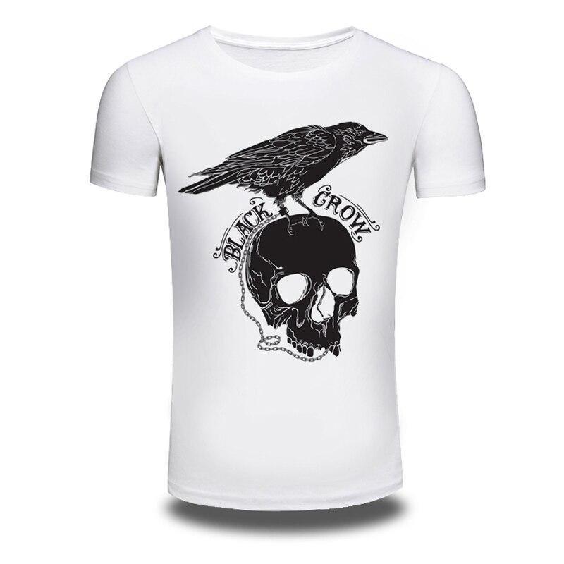 DY 84 Punk Style Skull 3D Printer T font b shirts b font font b Mens