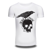 DY-84 Punk Style Skull 3D Printer T-shirts Mens Trendy Loose Sweatshirt White Spring New T shirts Oversized M-3XL