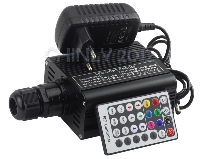 2016 NEW RGBW 16W LED Fiber Optic Engine Driver with 28key RF Remote controller for all