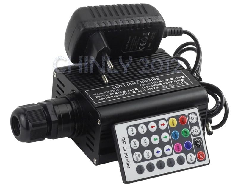 RGBW 16 Вт LED оптическое волокно Двигатели для автомобиля драйвер с 28key RF пульт дистанционного управления для всех видов Оптическое волокно s
