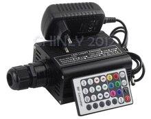 RGBW 16 W LED Fiber Optique Moteur Pilote avec 28key RF télécommande pour tous les types de fibers optiques