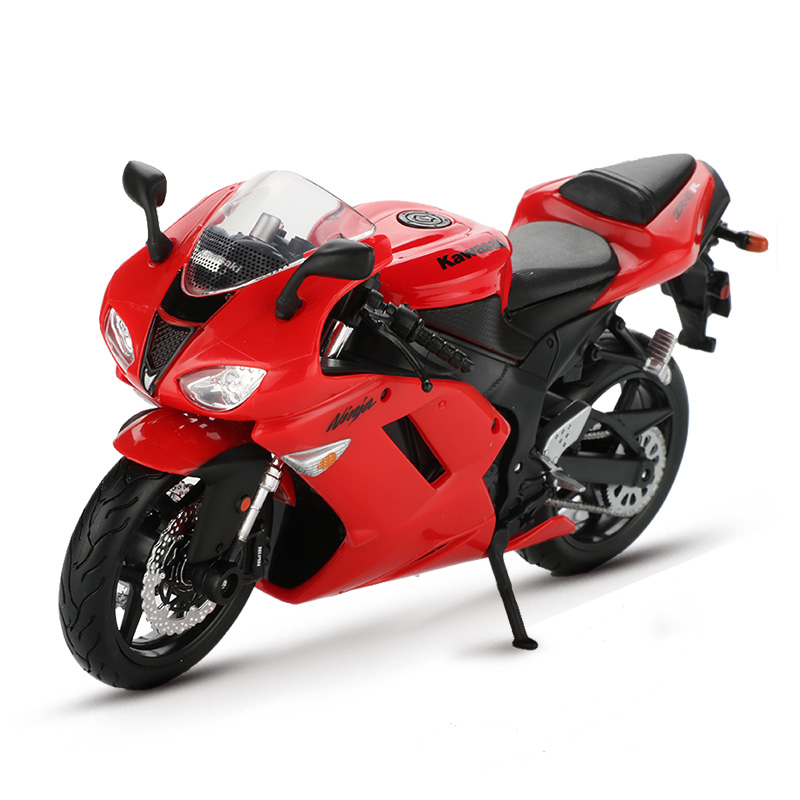 Maisto <font><b>1:12</b></font> Scale Motorbike Toy <font><b>Models</b></font> Alloy Racing Motorcycle Ninja ZX-6R <font><b>Car</b></font> Toys For Kids Birthday Gift image