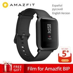 Amazfit بيب ساعة ذكية هوامي غس غلونيس 45 أيام الاستعداد مراقب معدل ضربات القلب الإسبانية الروسية الإنجليزية smartwatch ل أندرويد IOS