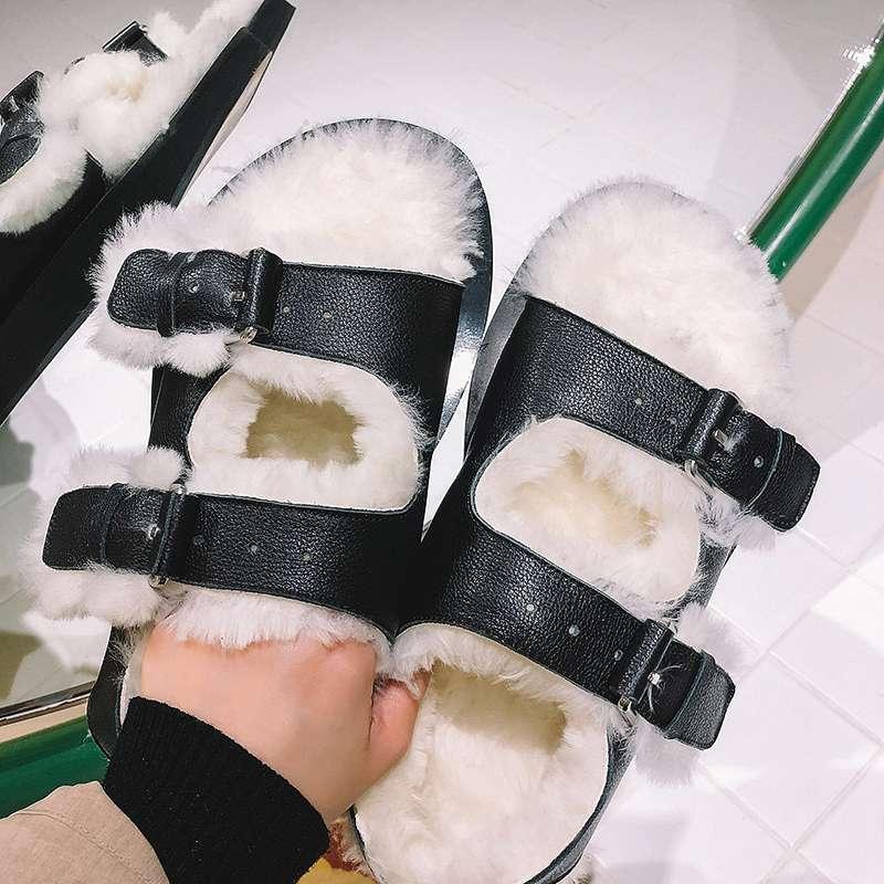 Printemps Luxe Peep De Cuir Sangle Du En Slingback Chaud Laine Garder Vache Chaussures Boucle Toe L12 Début Sandales Style Punk Noir Gladiateur Au Vintage OtwIqEt