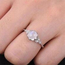 Высокое качество лунный камень инкрустированное кольцо Стильное кольцо обручальное кольцо кольца для пар кольцо(бижутерия) аксессуары* 30 дропшиппинг
