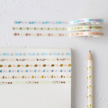 5mm*5m Life series bronzing paper tape DIY decoration washi scrapbooking planner masking adhesive stationery gift