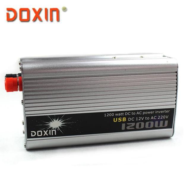 Venda quente! USB 1200 W DC 12 V para AC 220 V Potência Do Carro Auto INVERSOR DOXIN Inversor Universal Soquete com USB ST-N019