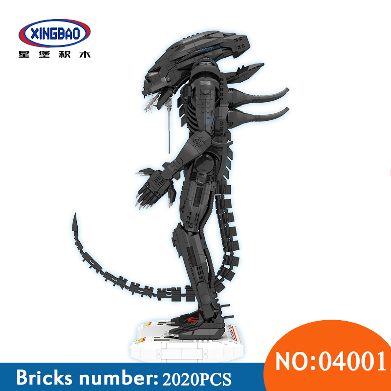 XingBao 04001 2020Pcs Genuine Creative Movie Series The Alien Robot Set Educational Building Blocks Bricks Toys For ChildrenXingBao 04001 2020Pcs Genuine Creative Movie Series The Alien Robot Set Educational Building Blocks Bricks Toys For Children