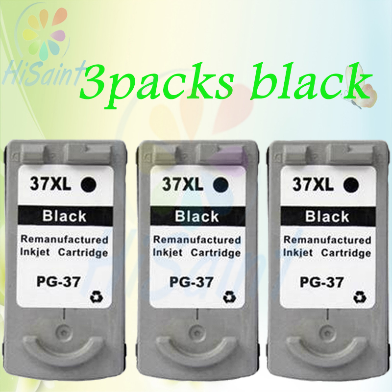 ФОТО New arrivals 3packs black For Canon PG-37 Ink Cartridges PG 37 compatible MP140/160/190/210/220 IP1900/2500printer