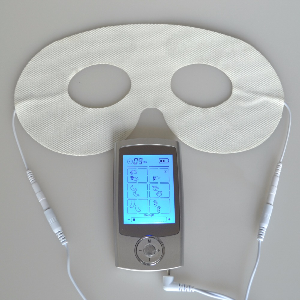 Tens Digital Therapy Massager Acupuncture Pulse Electrode Unit Muscle Stimulator Body Relaxation With Conductive Eye Mask hwato computer random pulse acupuncture treatment instrument smy 10a nerve and muscle stimulator tens 10 channels output ce appr