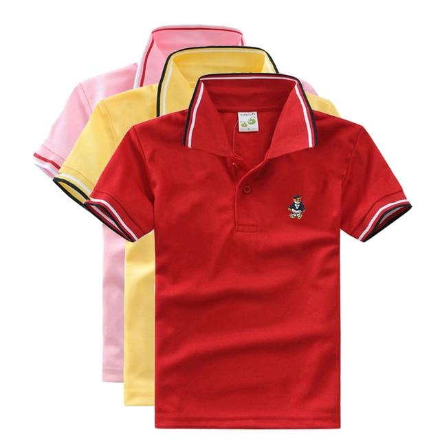 6aeed79c23b07 Haute Qualité Unisexe Garçon Polo Shirts pour Bébé Toddler Big Enfants  Cadeau Vêtements Marque D'