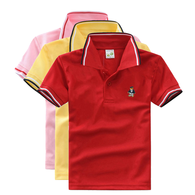 High Quality Unisex Boy Polo Shirts For Baby Toddler Big