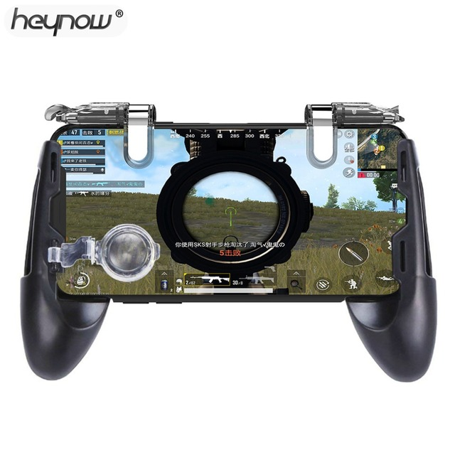 HOT Game Gamepad For Universal Mobile Phone Game Controller Shooter Trigger Fire Button Aim Keys joystick For PUBG for iphone XS