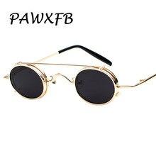 Pop Age 2018 New Smalll Round Steampunk Sunglasses Women Men Coating Mirror Sun glasses Vintage Oculos de sol 400UV