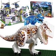 848 pcs Legoings Mundo Jurássico Dinossauro Raptor Escapar do Dinossauro Modelo Building Blocks Ação Brinquedos Festival Presente de Aniversário do Menino