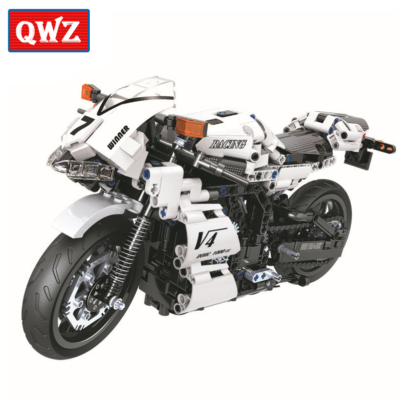 Technic Motorcycle Moto Legoes Building Blocks Sets Bricks Model Kids Classic Toys For Children Gifts Christmas Gifts City Car