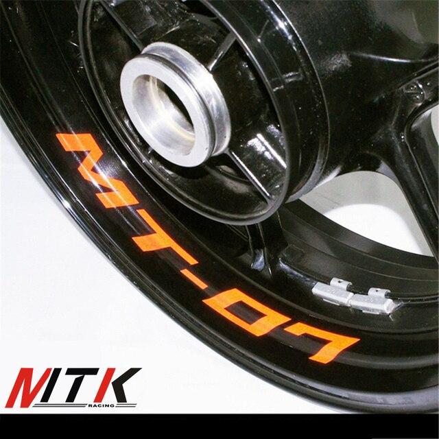 Mtkracing seven colors 8x custom inner rim decals wheel reflective stickers stripes fit yamaha mt