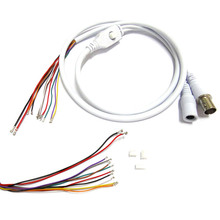 2x 80cm BNC Video DC12V Power OSD Control Pigtail Cable Analog CCTV Camera Module Board Menu Button end cable, black, white