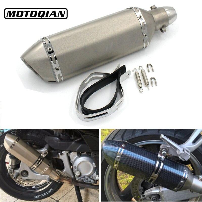 51mm Inlet Universal Motorcycle Exhaust Pipe Muffler Moto Bike Pot Escape For Honda CB1000R CBR 1000RR ABS 600 600RR CBR400