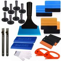 EHDIS 22pcs Car Window Tint Tools Vinyl Film Wrapping Tool Kit Magnet Holders Felt Plastic Squeegee Cutter Knife Car Styling Set