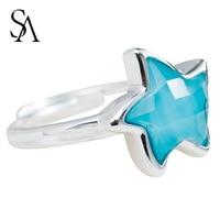 SA SILVERAGE Real 925 Sterling Silver Wedding Rings