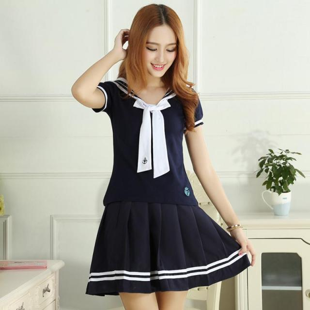 Summer japanese school uniform women students clothes for for Womens school uniform shirts