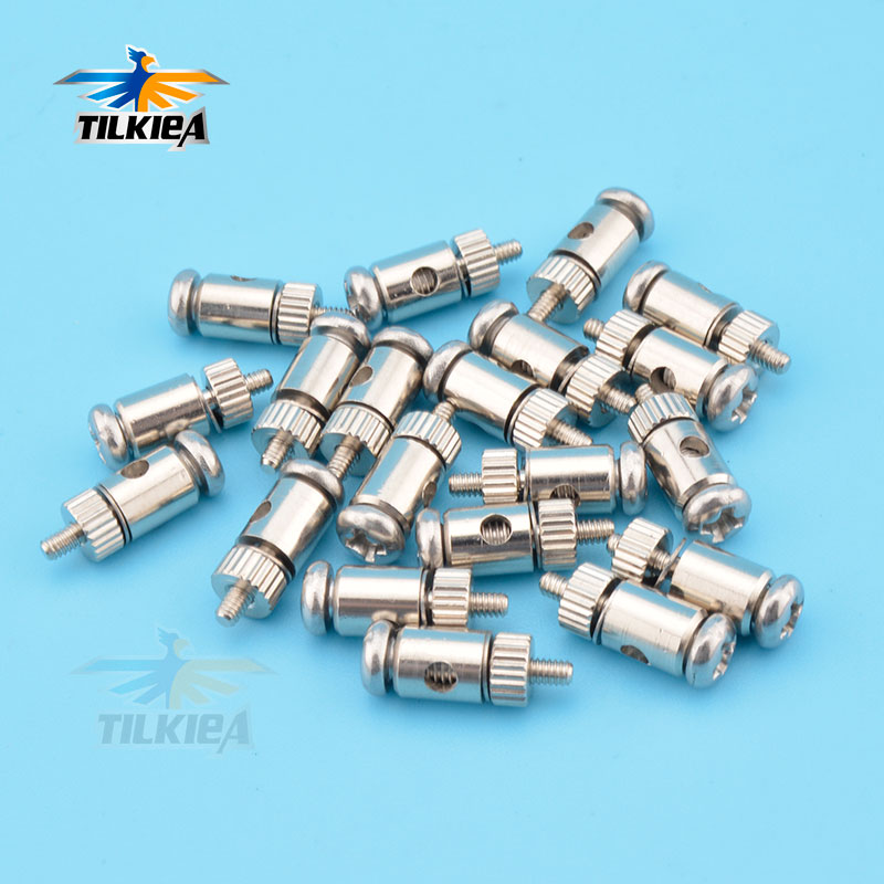 4x Pushrod Linkage Stopper Servo Connectors 2.1mm for nitro or electric airplane