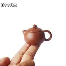 Фиолетовый Глиняный Пальчиковый чайник, маленький карманный чайный набор, аксессуары, украшения, украшение для чайного стола