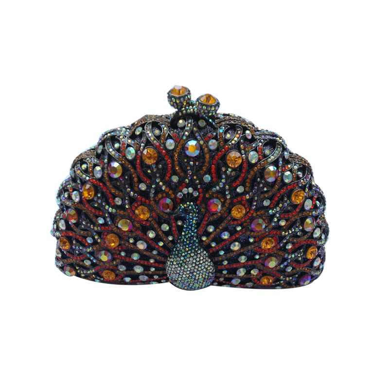 Peacock Clutch Purse Luxury Crystal Evening Clutch Bags clutch adriana muti clutch
