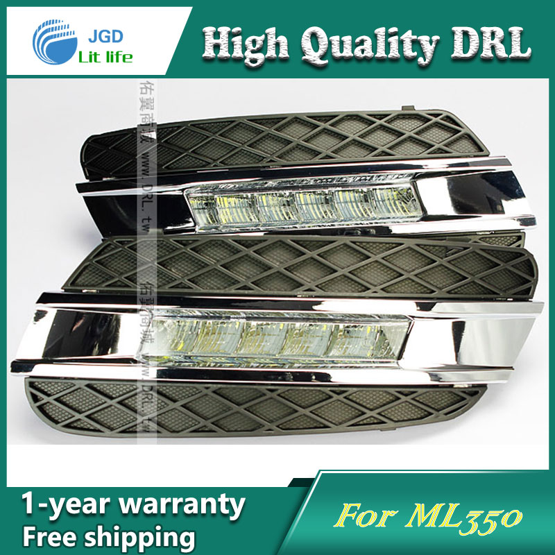Free shipping ! 12V 6000k LED DRL Daytime running light case for Benz ML350 Fog lamp frame Fog light Car styling free shipping 12v 6000k led drl daytime running light case for subaru wrx 2015 2016 fog lamp frame fog light car styling